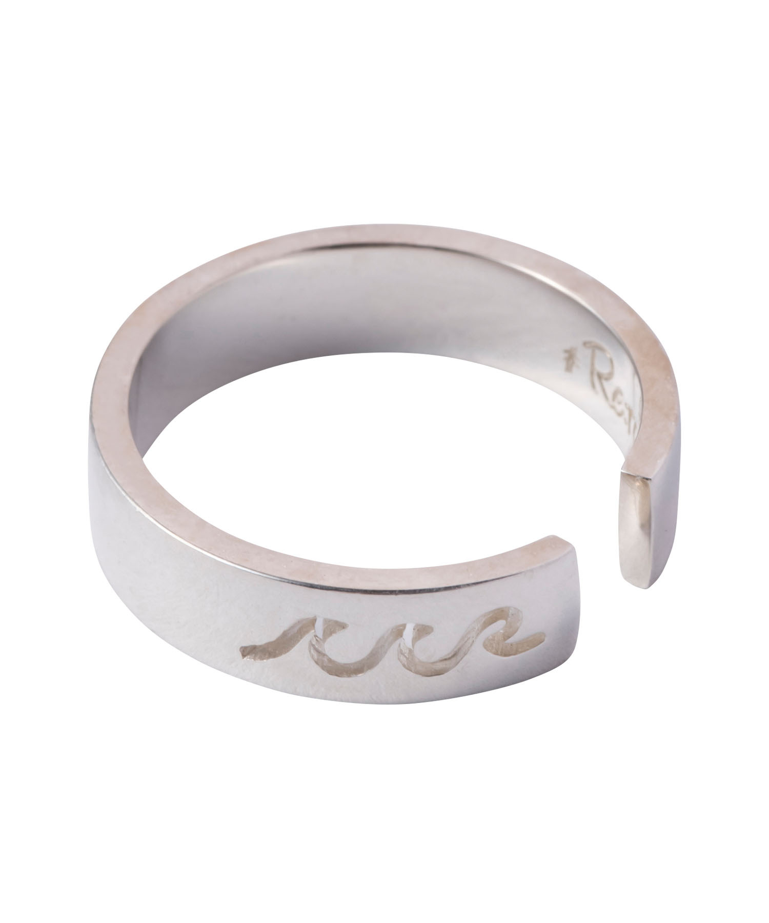 WAVE ICON PLATE RING SILVER[REA133]