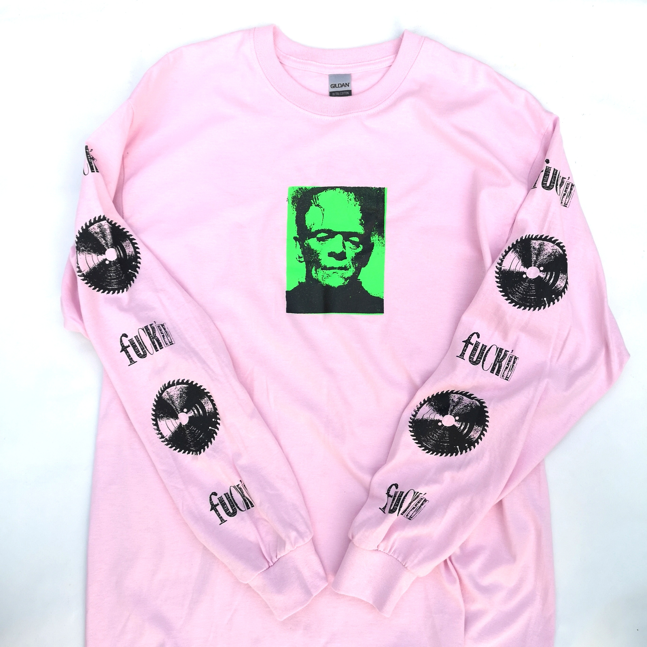 ||||| MONSTER LONG TEE PINK L