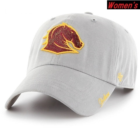 Brisbane Broncos Women's CLEAN UP Cap Gray