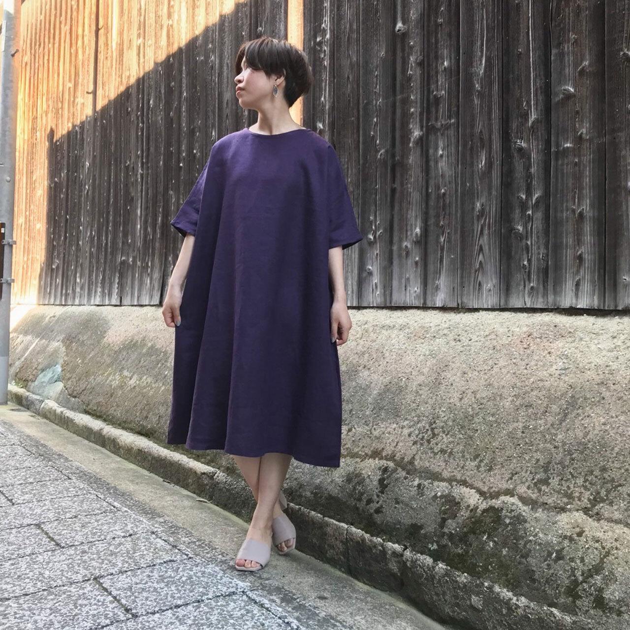 菖蒲/ayame オールシーズン使えるシンプルな麻100%ワンピース【image8787】