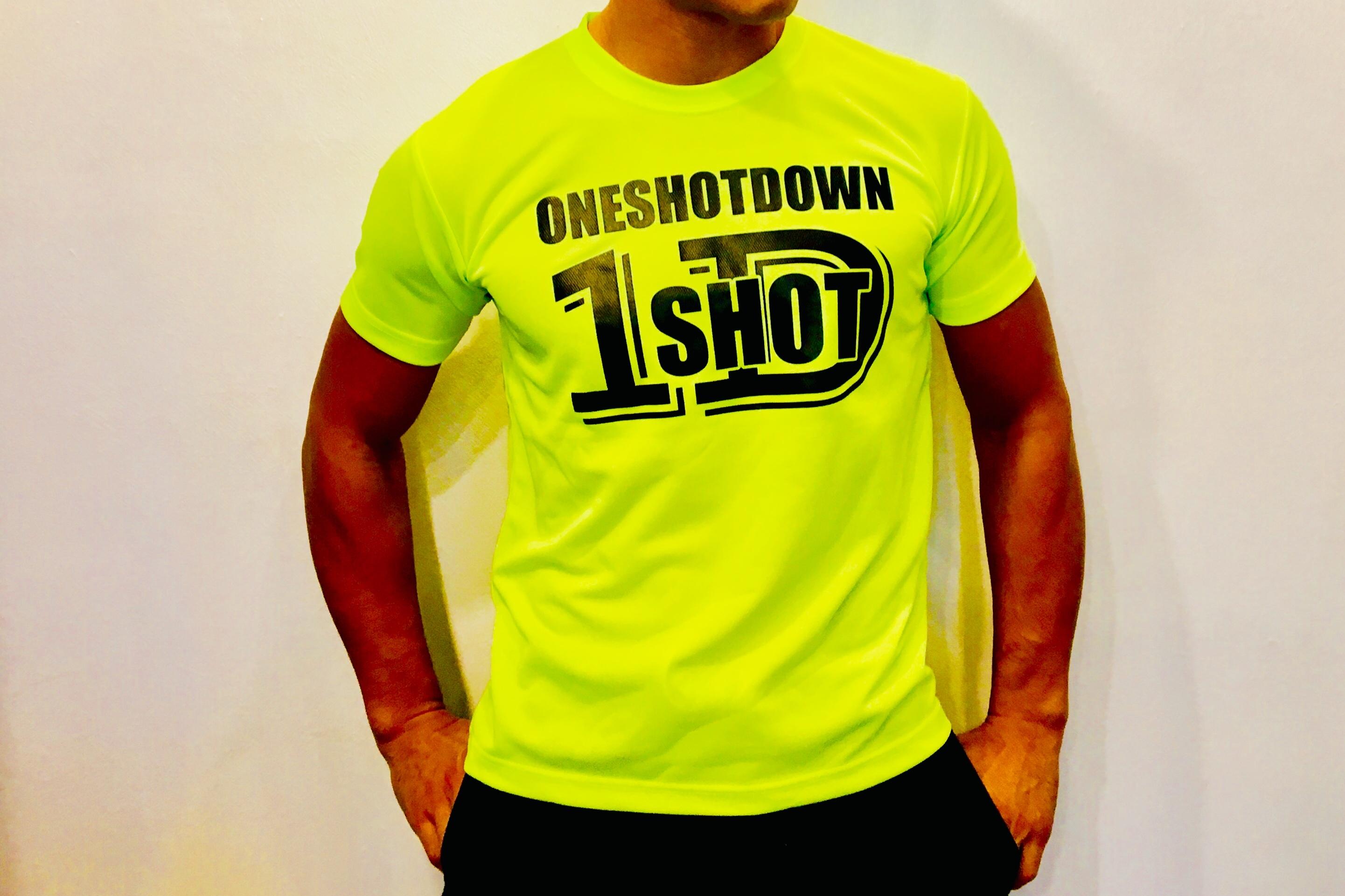 ONESHOTDOWN ネオンカラードライTシャツ - 画像4