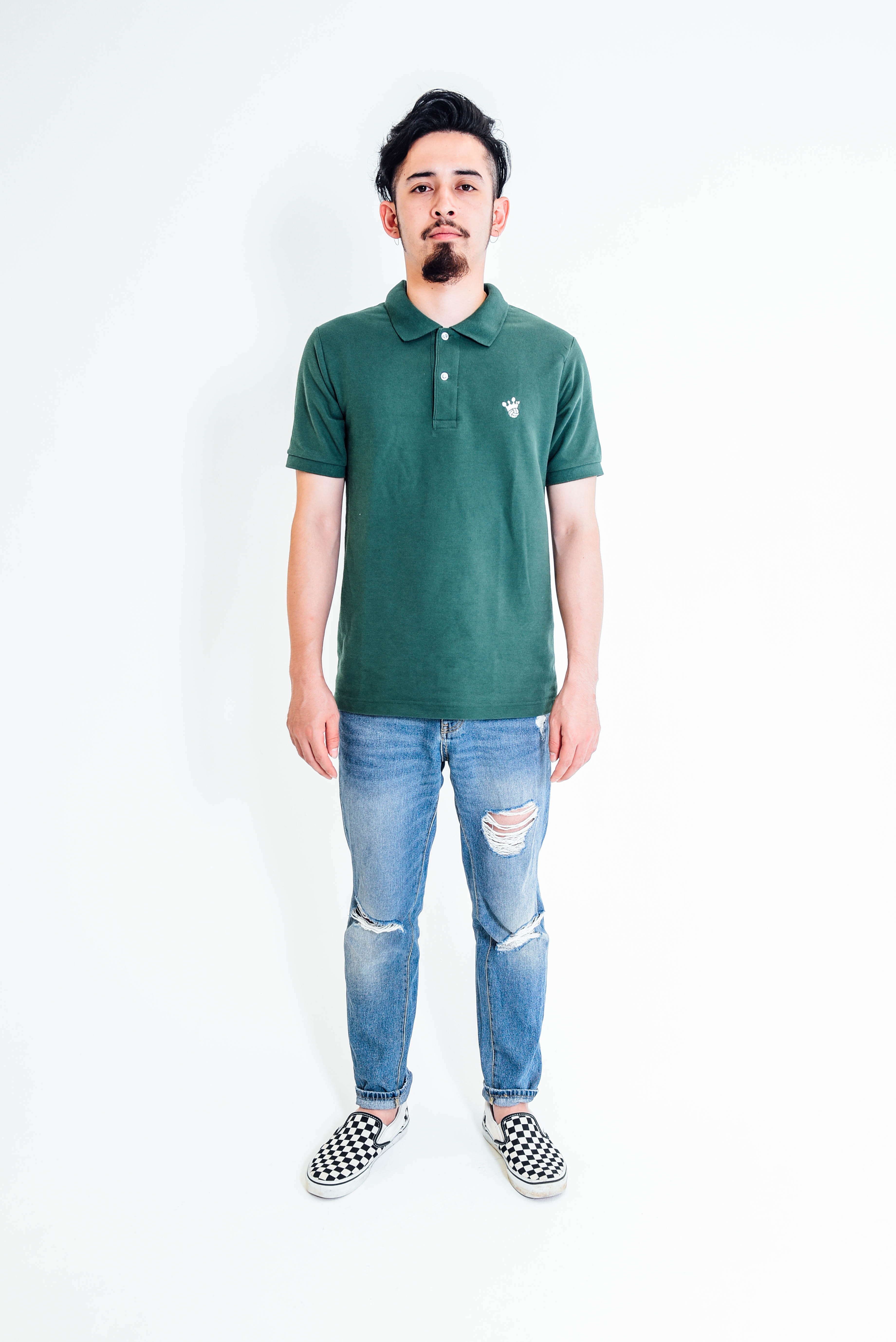 King Logo Polo-Shirt / Green - 画像4