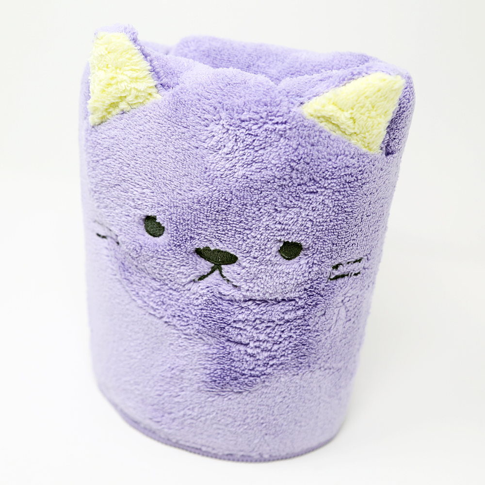 猫ヘアドライタオル(吸水速乾アニマルねこ)