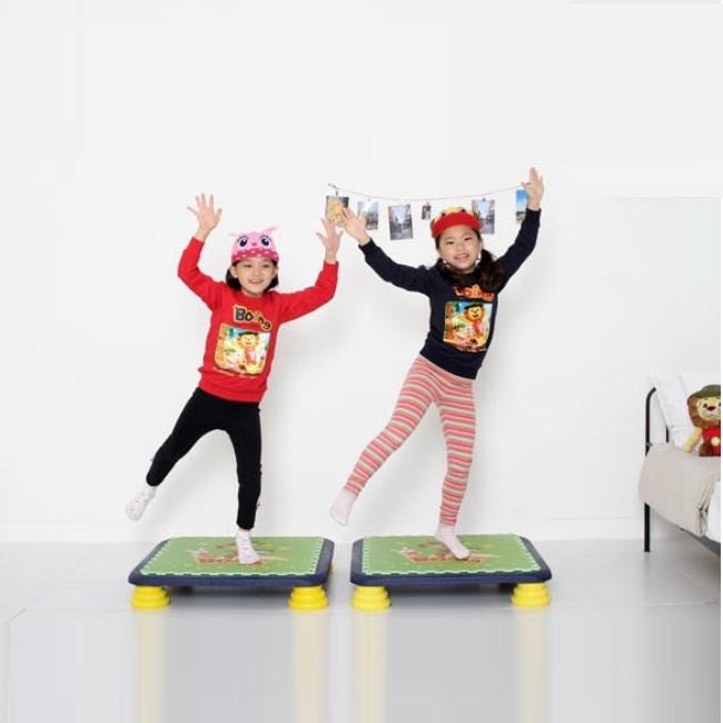 バンバンボード(黄色)子供用やわらかスプリング 安全 で 音が響きにくい 人気 の 室内・家庭用 の おすすめトランポリン Yellow-S プレゼント
