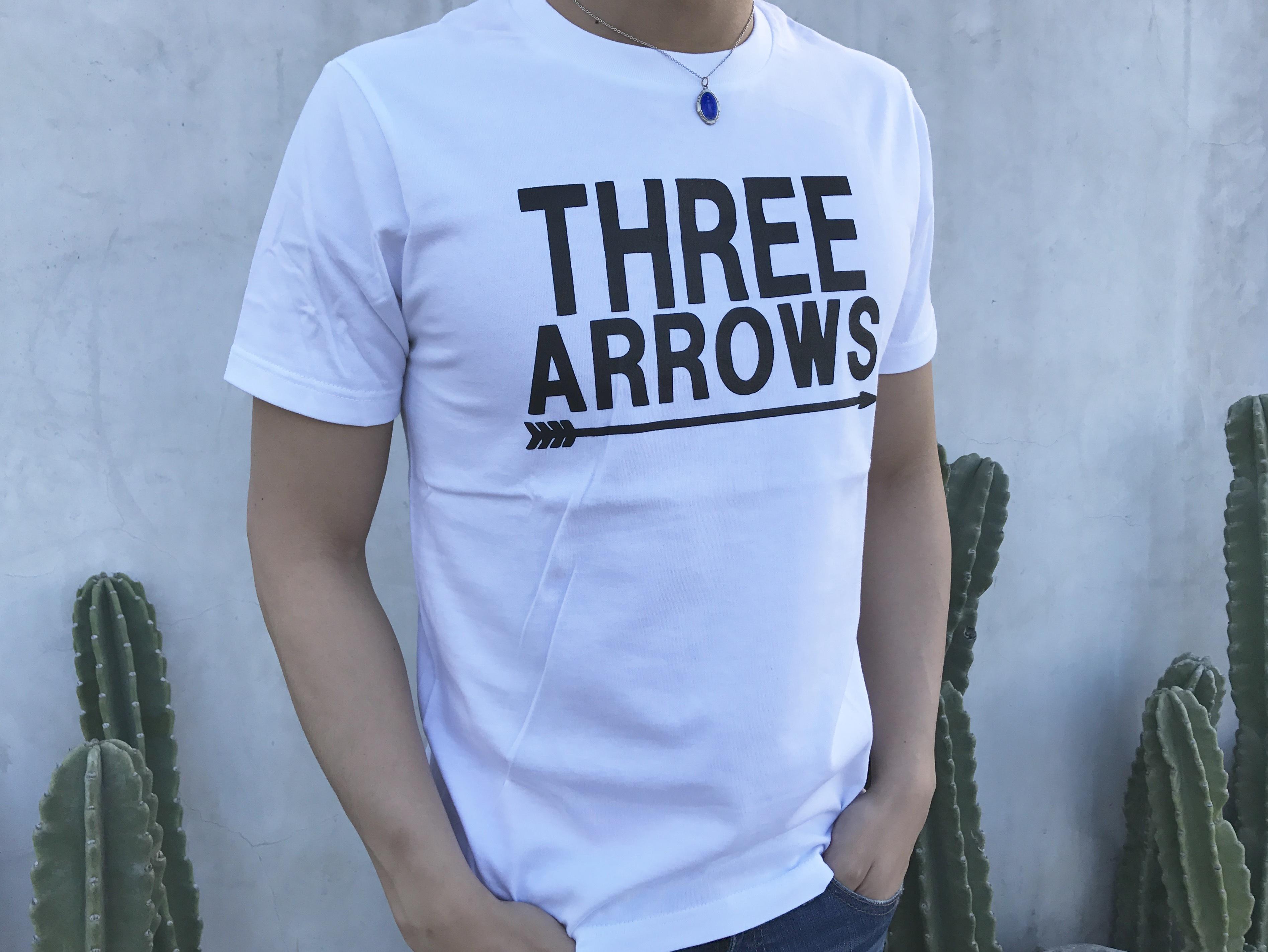 BIG THREE ARROWS Tシャツ(white)