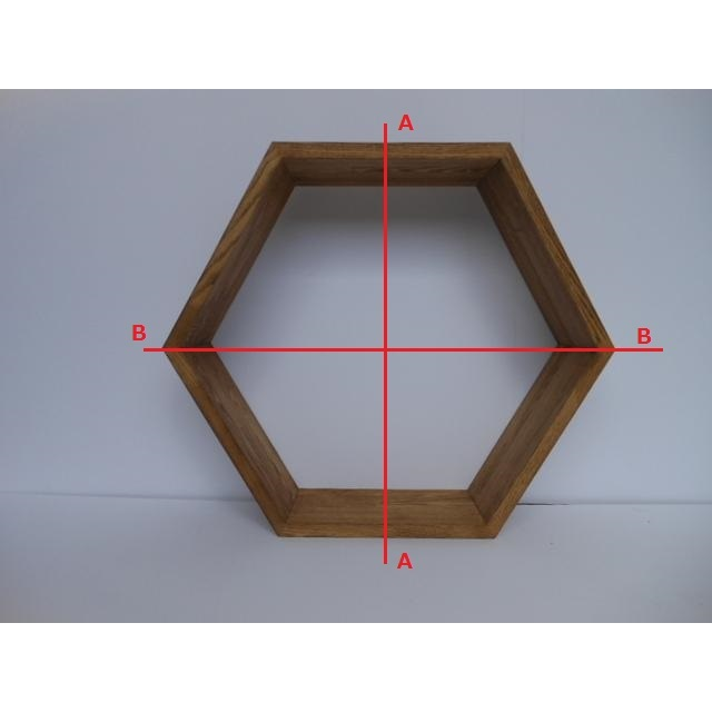 6角形シェルフ(展示使用品) - 画像3
