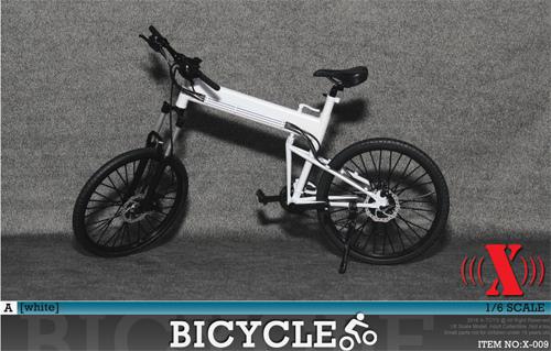 【03311】 1/6 X-TOYS 自転車 白色