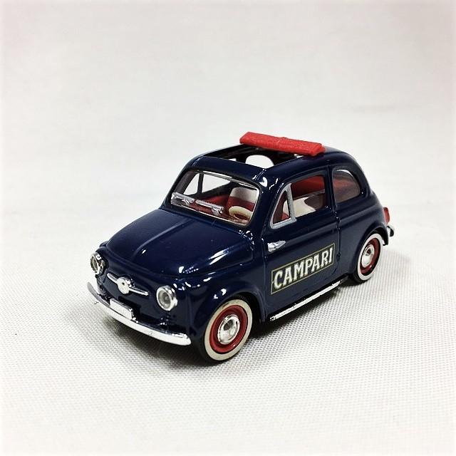 Fiat Nuova 500 Tetto Apribile Campari 1/43【Solido】【1個のみ】【税込価格】