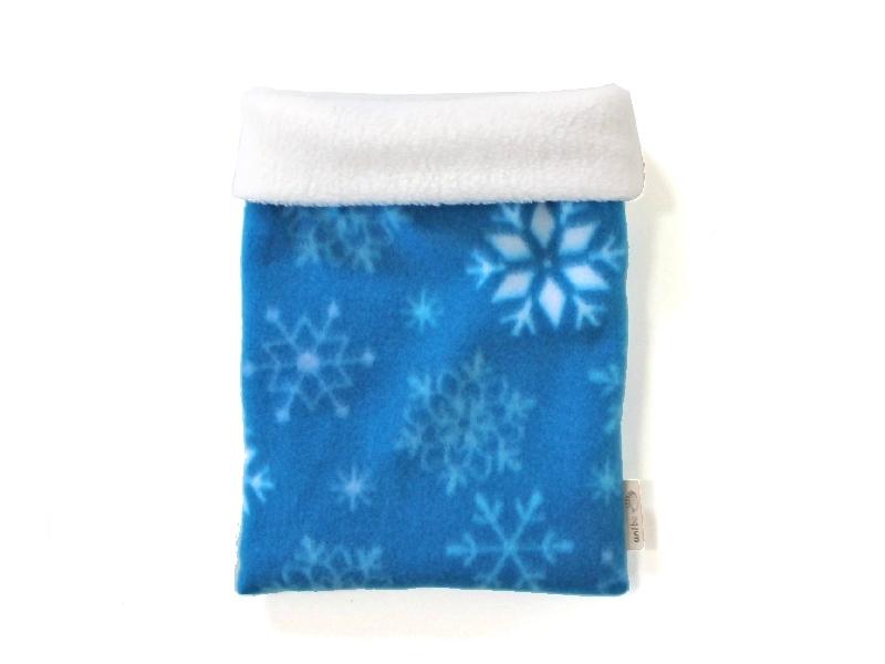 ハリネズミ用寝袋 M(冬用) フリース×フリース スノー ブルー 【販売終了】