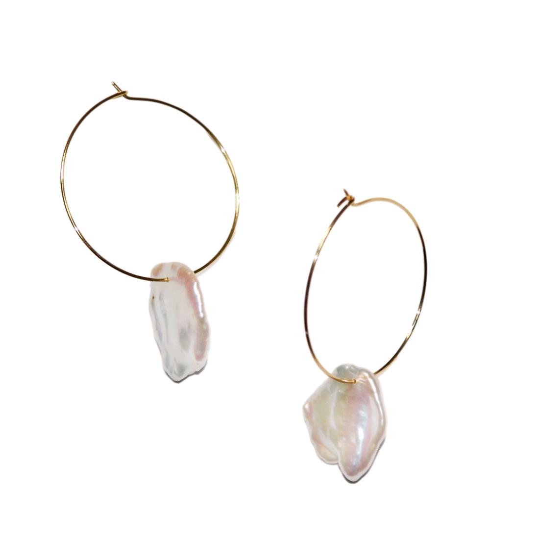 petal pearl hoop pierce
