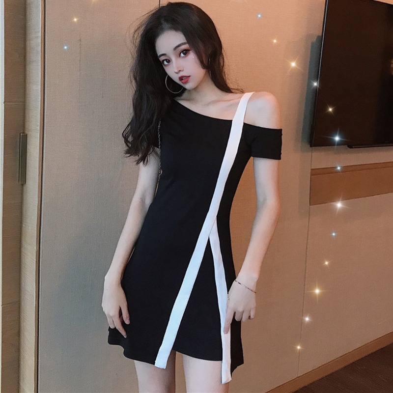 【dress】不規則着痩せファッションデートワンピース22210869