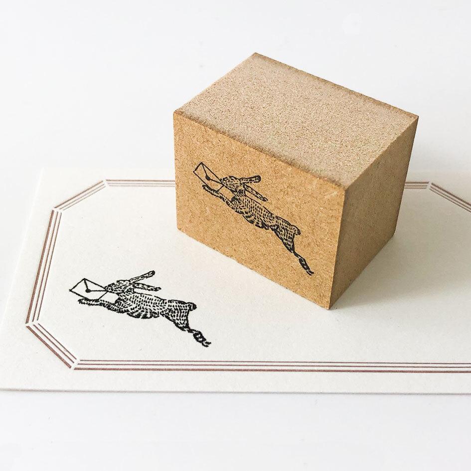 動物スタンプ・ウサギ