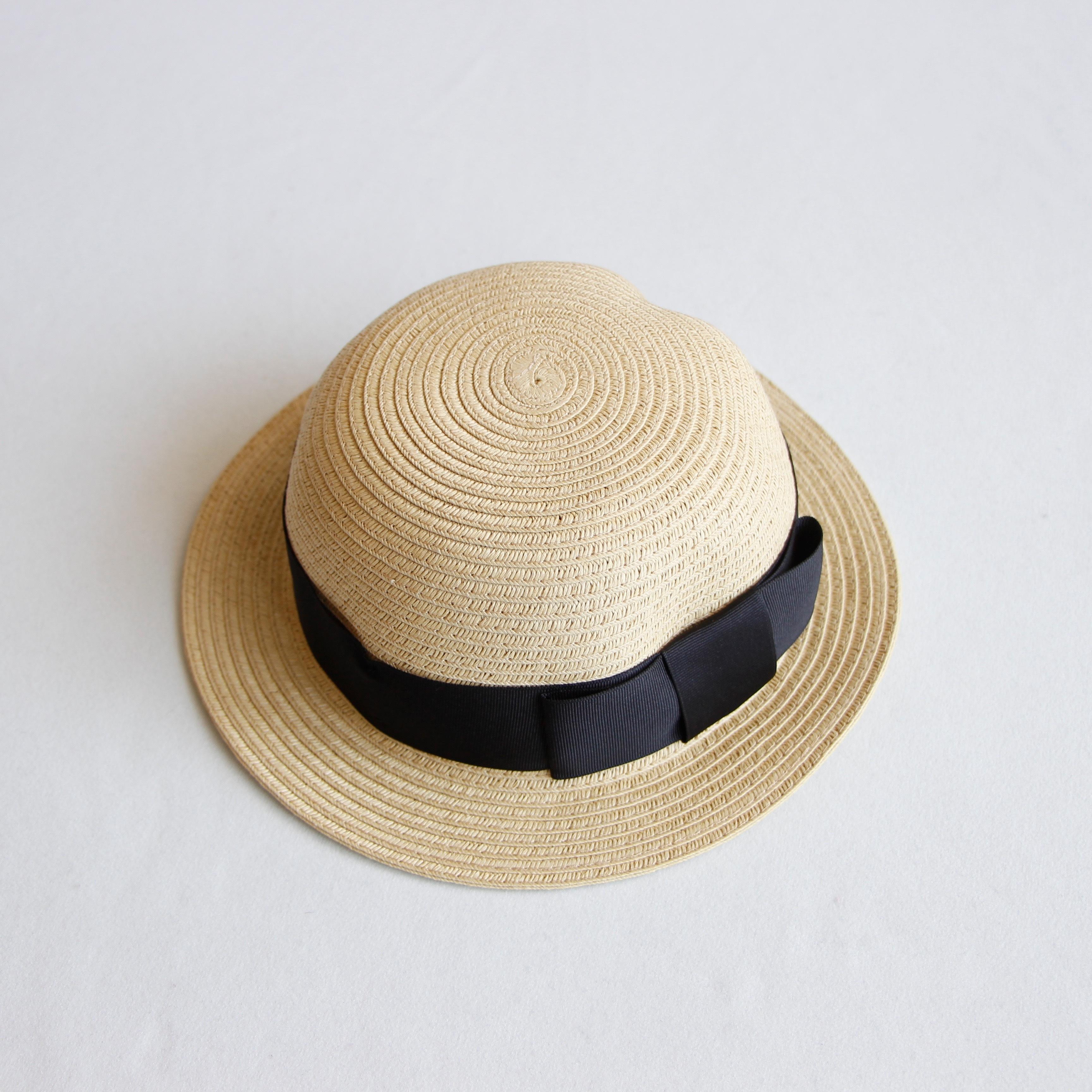《chocolatesoup 2020SS》PAPER BRAID BOWLER HAT / black / S・M