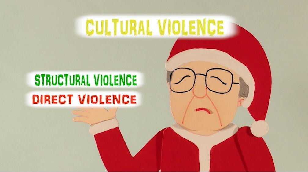 <英語・ダウンロード版>『クリスマスのオフィスにてVisible Violence Invisible Violence』英語吹替アニメ+日本語ブックレット