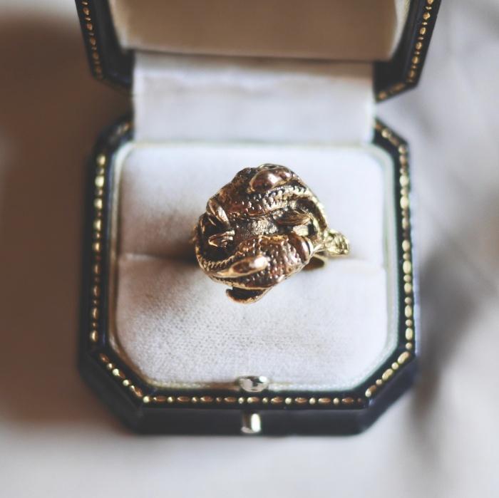 12星座 うお座(ピーシーズ) 70s ヴィンテージリング(指輪)フリーサイズ Vintage Ring Zodiac