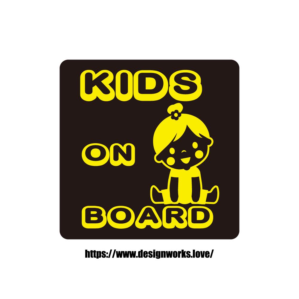 マグネット 全8色 KIDS ON BOARD GIRL