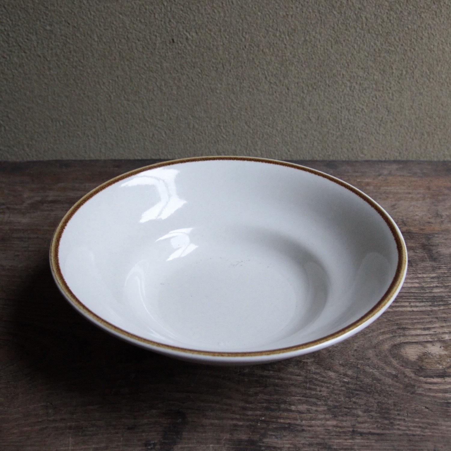 MIKASA ブラウンラインのボウル皿 在庫4枚