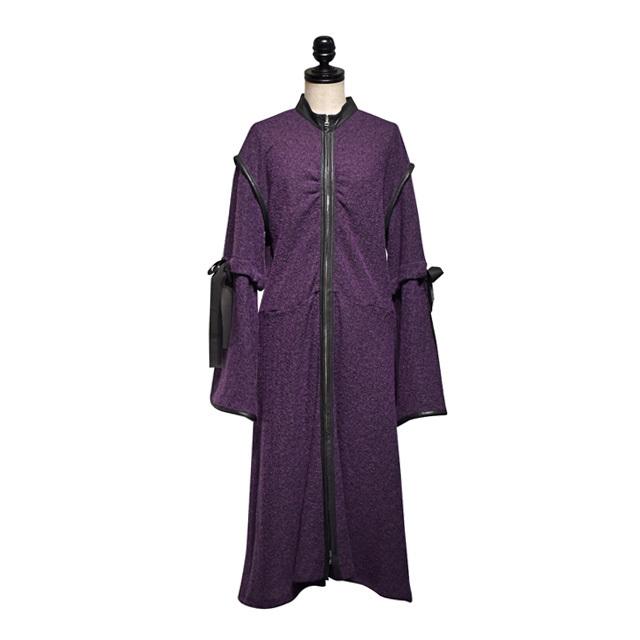 koll / tied sleeve onepiece / Purple