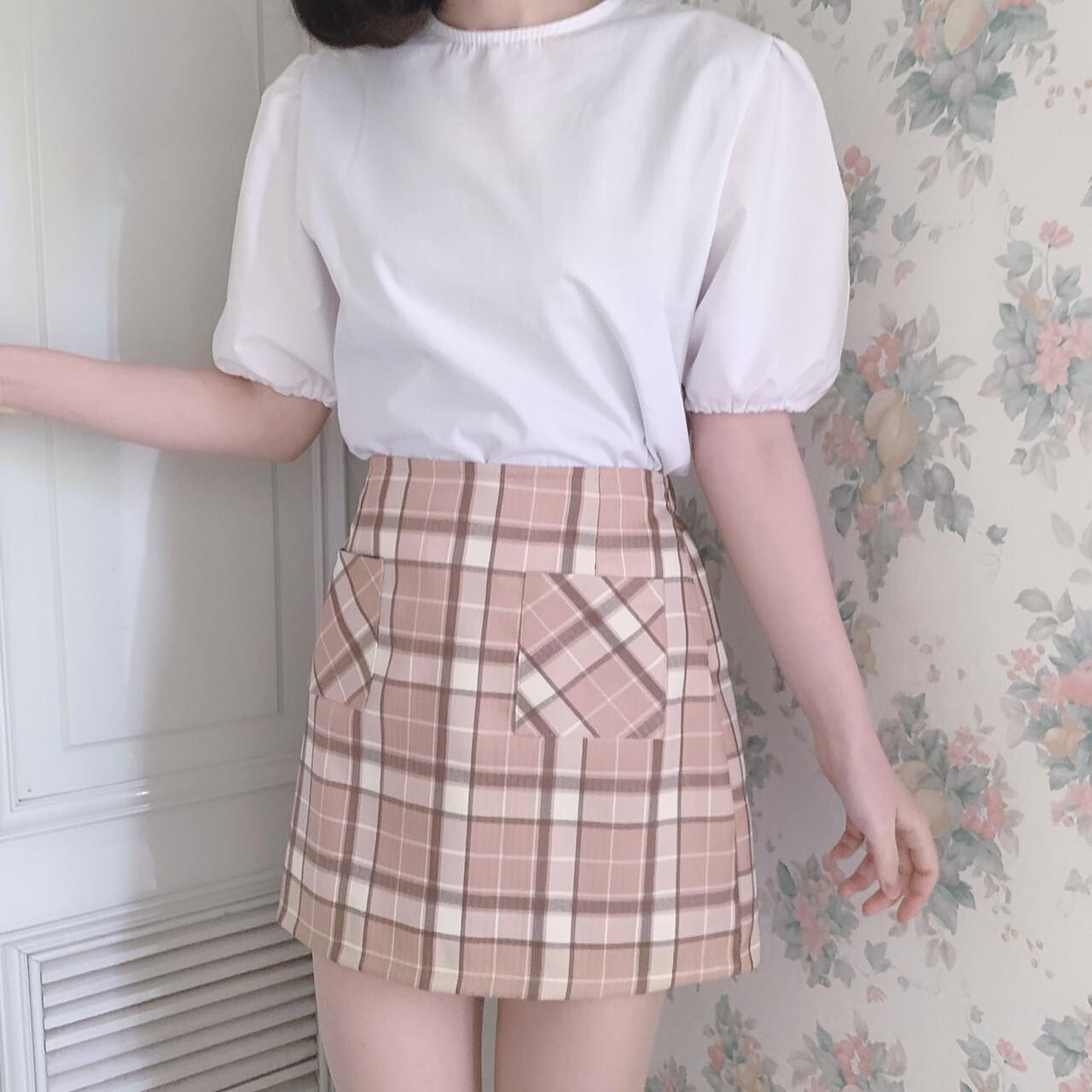 【meltie】check mini skirt