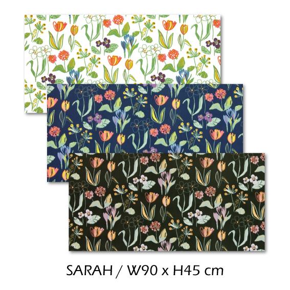 北欧生地 ファブリックパネル 横90 cm x 縦45 cm Kinnamark SARAH 受注販売商品 (100926)