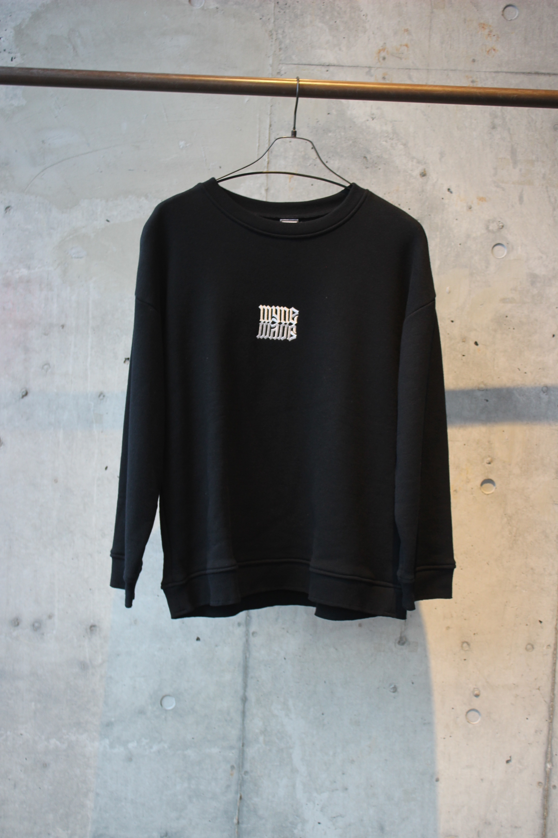 【50%OFF】embroidery pullover / BLACK - 画像1