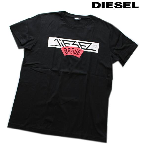 DIESEL ディーゼル Tシャツ 半袖 プリント Tシャツ メンズ T-DIEGO-A1 BLACK