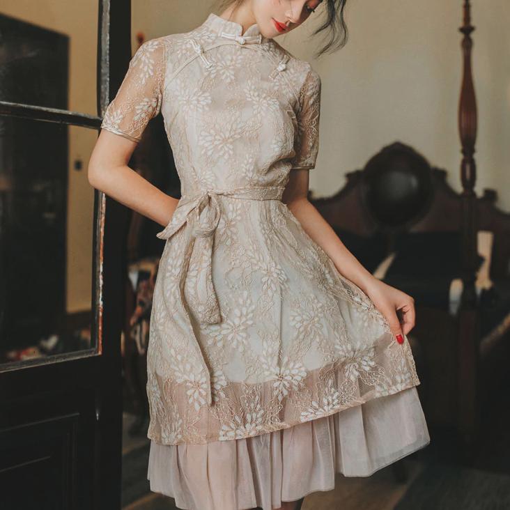 Aラインチャイナドレス