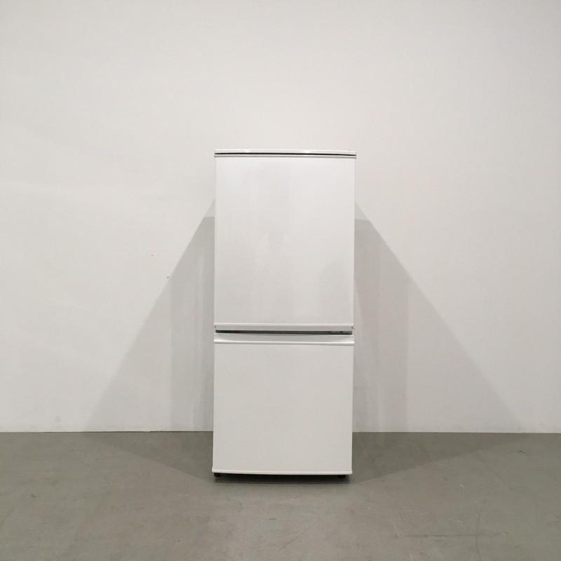 【極美品】シャープ 冷凍冷蔵庫 SJ-D14B-W 2016年製 つけかえどっちもドア