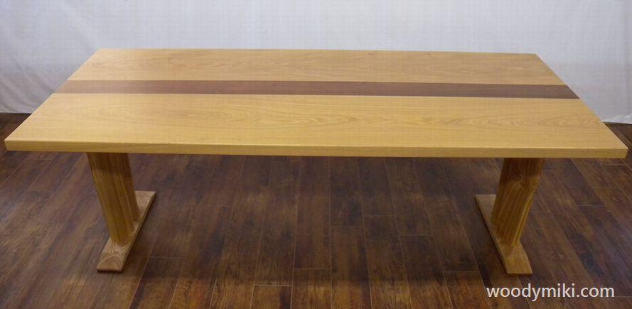 テーブル タモ、ウォールナット - 画像2