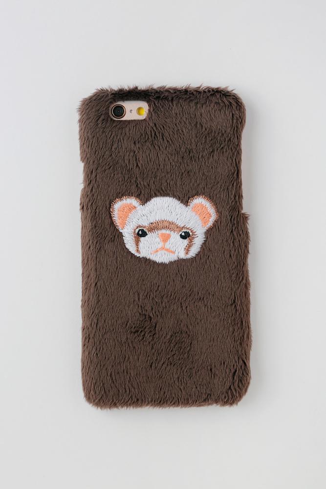 【iPhone6/6S専用】フェレットiPhoneハードケース【セーブル】