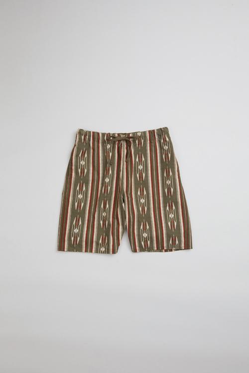 70'S ネイティブジムショーツ / 70'S NATIVE GYM SHORT - PANAMA CLOTH - NATIVE PATTERN PRINT