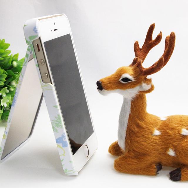 【ミラー付】iPhoneケース★ICカードフォルダー搭載など多機能タイプ★ボタニカル柄、全体運アップ