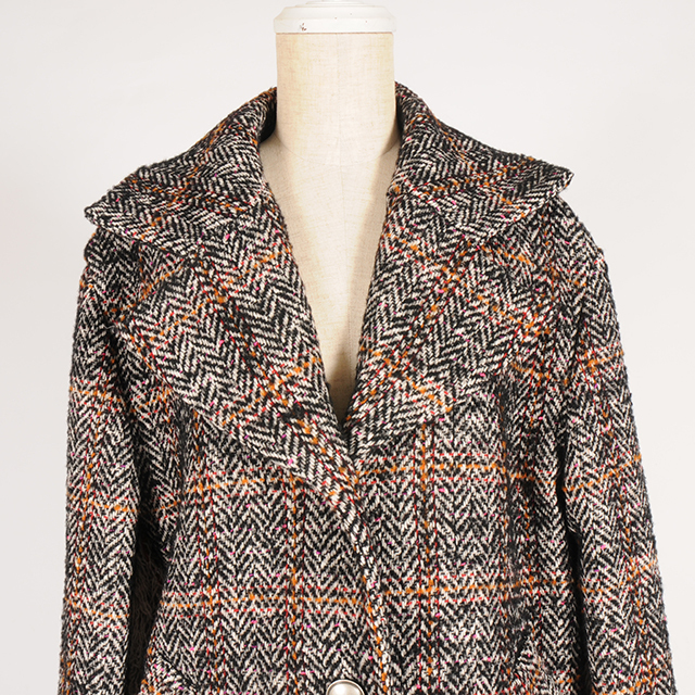 hs19AW-IR09 HERRINGBONE COAT (brown)