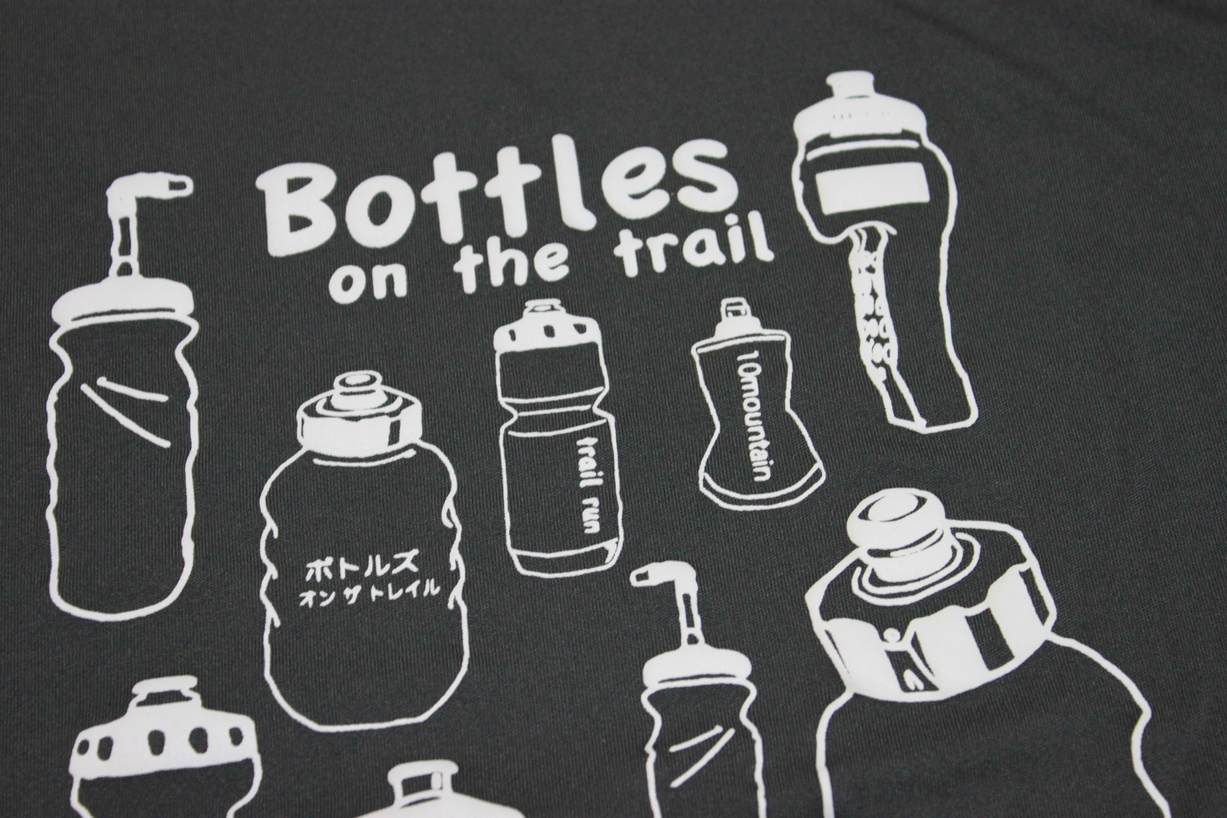 Bottles on the trail / ノースリーブ Navy & Gray