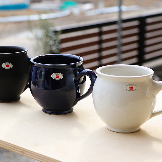 北欧デンマーク/ヘンリックさんマグカップ/白・黒・茶・紺・ターコイズ