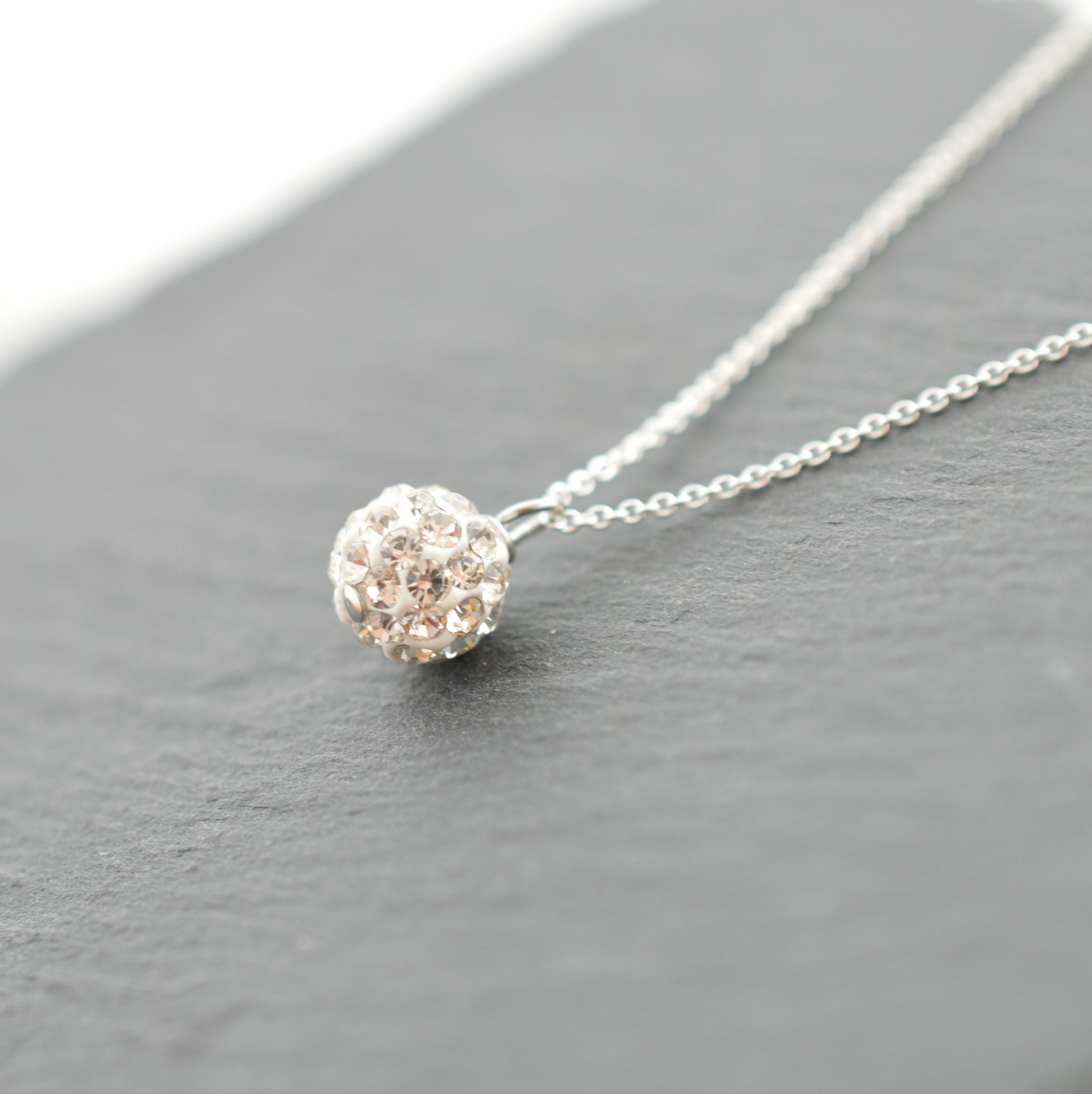 Swarovski Crystal Ball Necklace