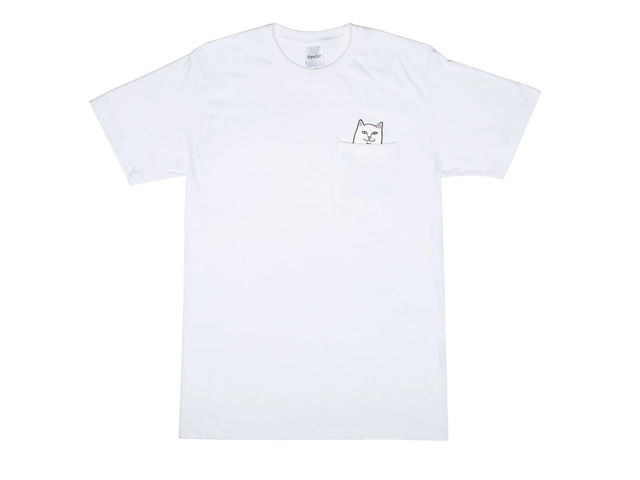 RIPNDIP|Lord Nermal Pocket Tee (White)