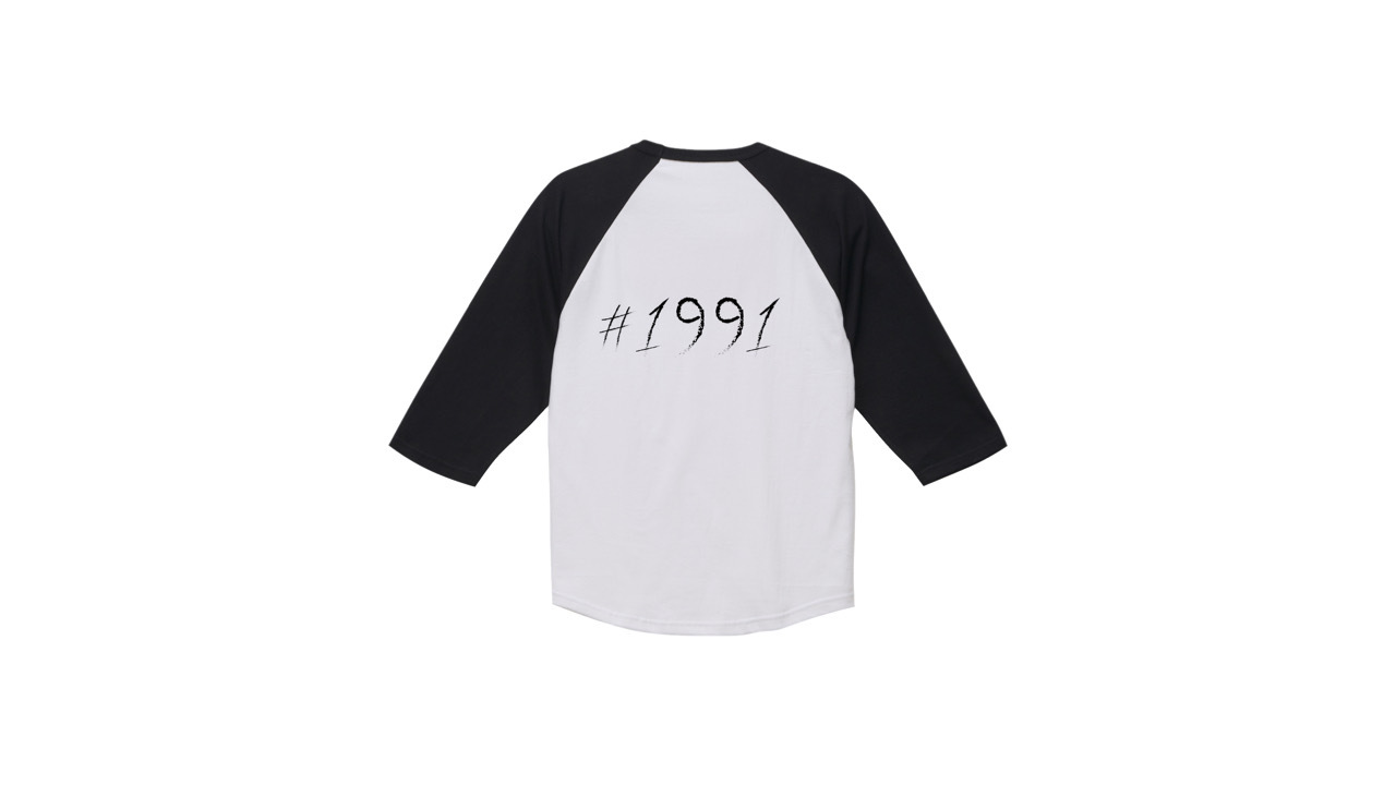 1991 raglan sleeve T-shirts (BLK/WH)