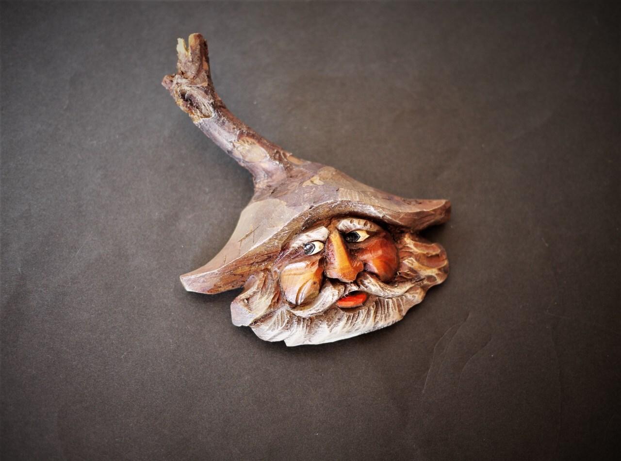 黒い森の木彫り   木の精霊壁飾り  ウッドカービング シュバルツヴァルト
