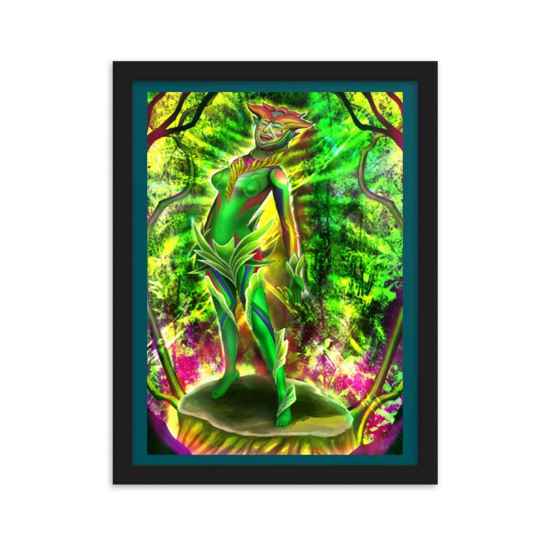 フレーム付きマットペーパーポスター/38×40cm/作品「呼吸する花」シリーズ