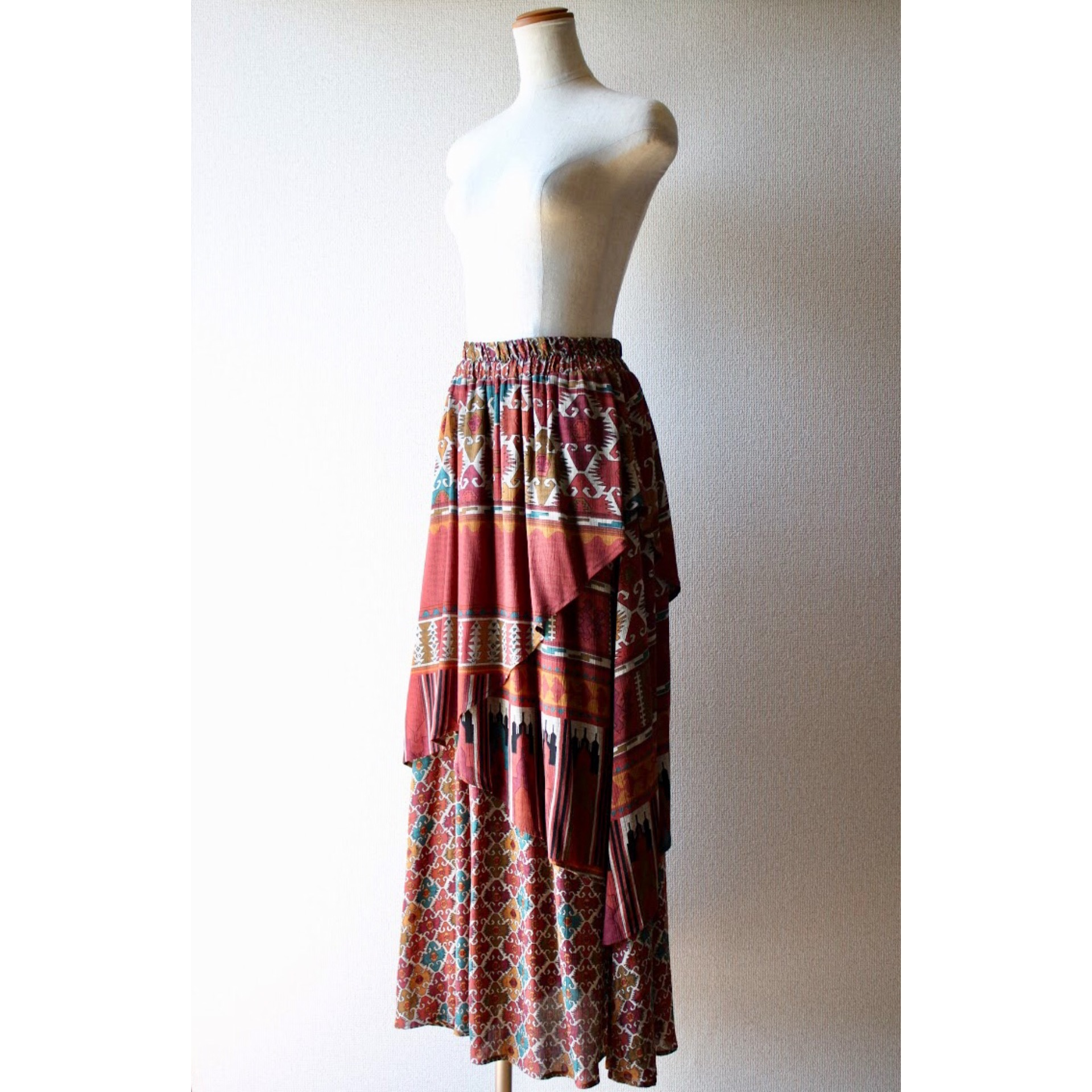 Vintage layered look skirt