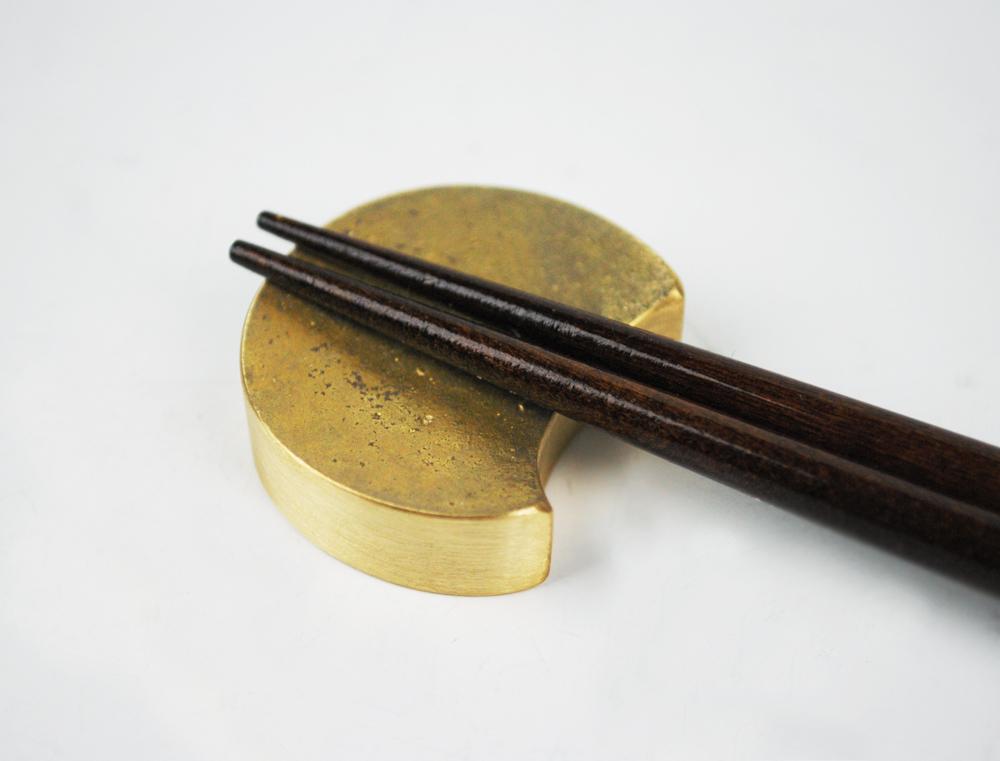 真鍮の箸置き  四つ月