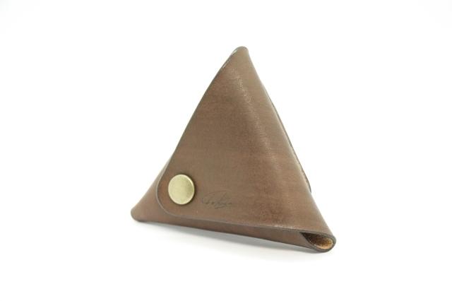 美しい三角コインケース(ローズウッド)