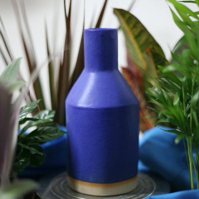 """Sophie Alda """"tall bottle vase in blue"""""""