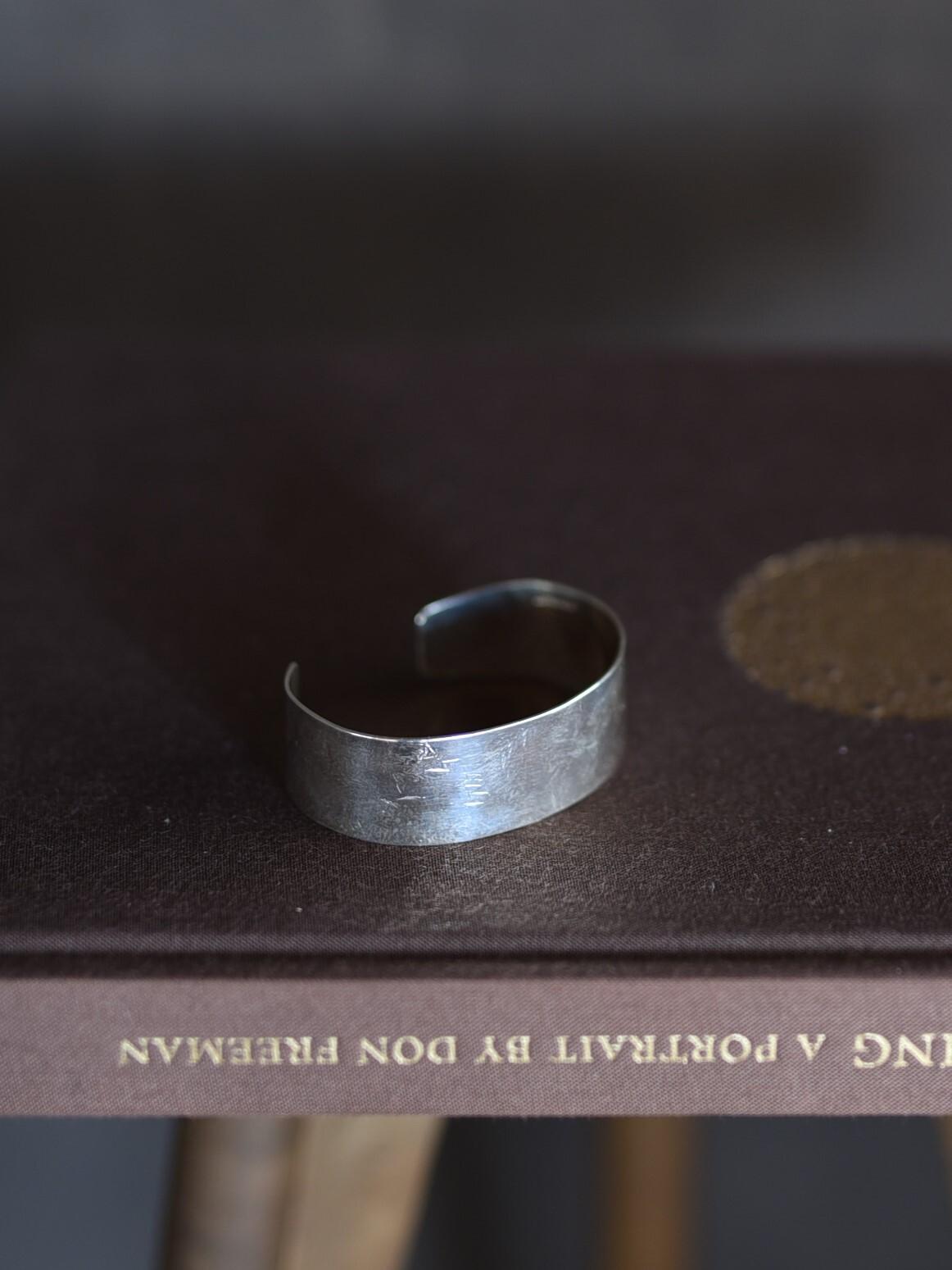 accessories mau|B-04 平打ちsilverbangle/2cm