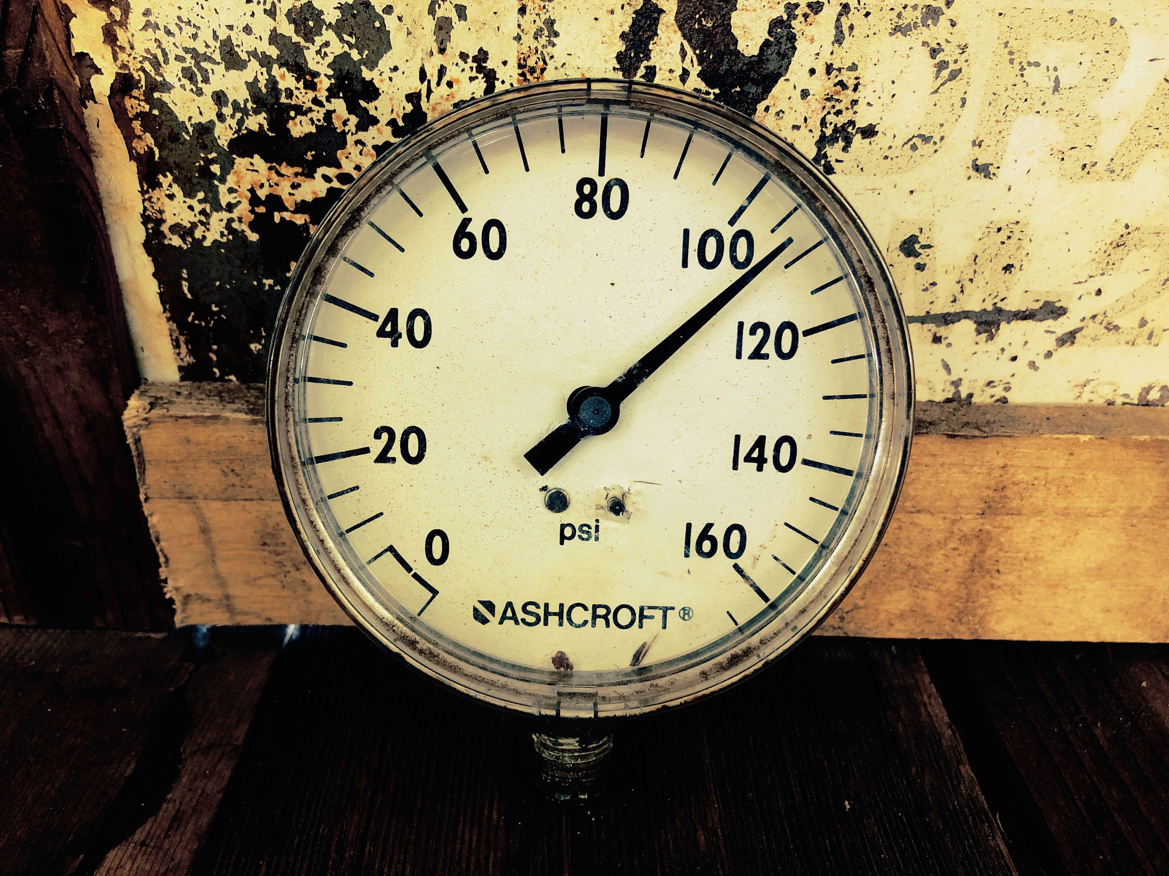 品番0180 Air Pressure Gauge エアープレッシャーゲージ ASHCROFT(アシュクロフト) 圧力計 ヴィンテージ