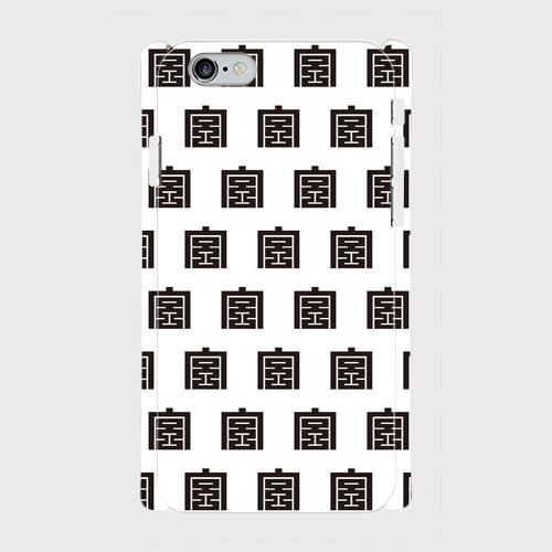 ※受注発注 iPhone だんじり宮本町-モノグラム-white スマホカバー