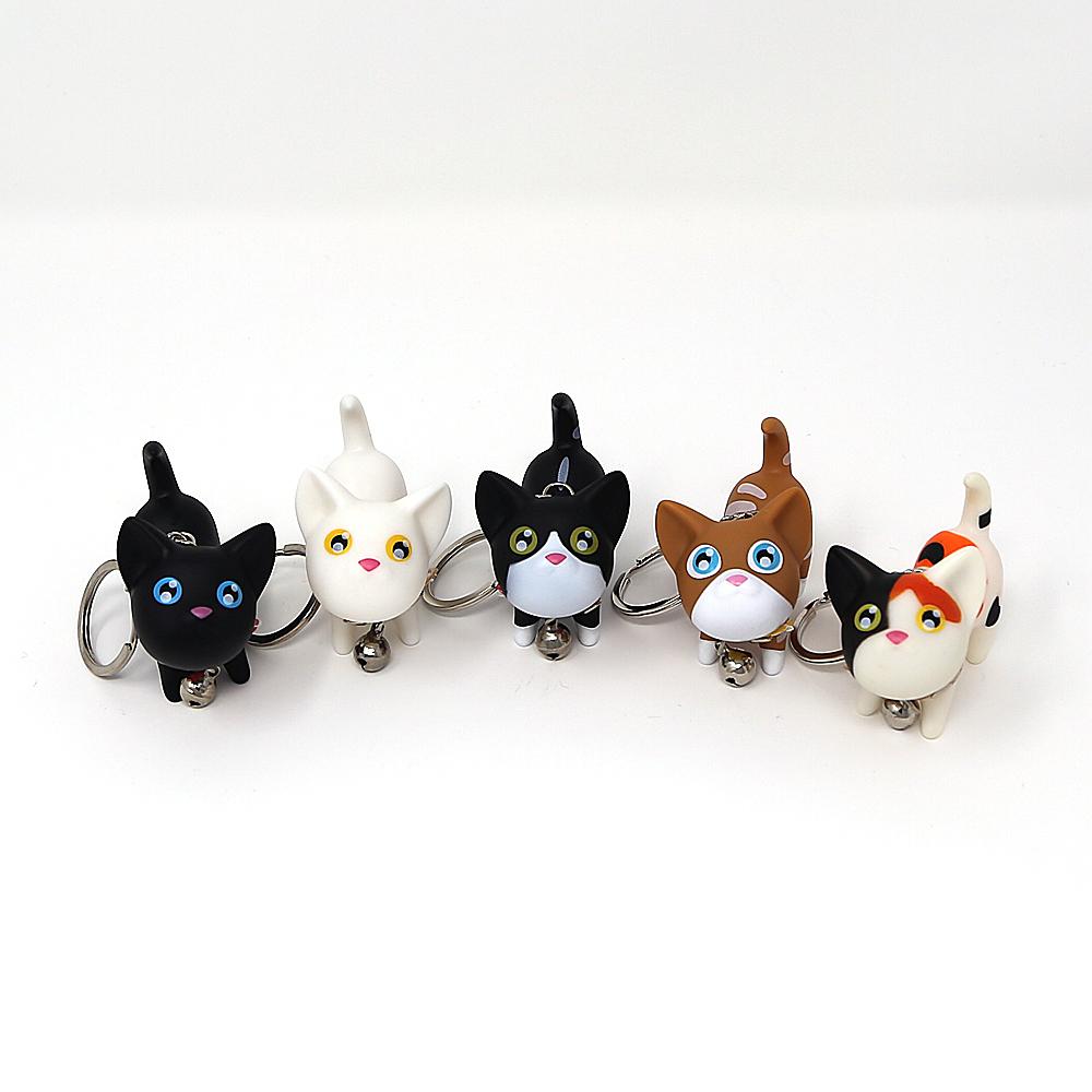猫キーホルダー(かしげるニャンコ)全5種類
