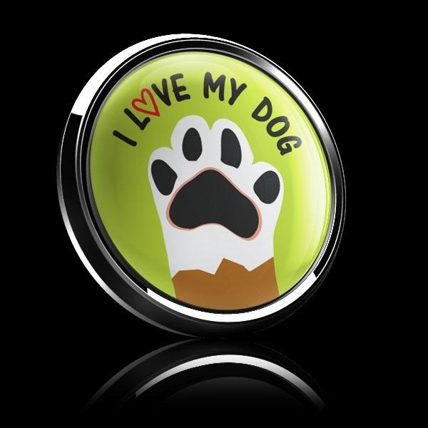 ゴーバッジ(ドーム)(CD0993 - I LOVE MY DOG) - 画像2