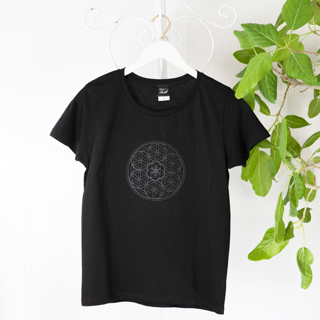 高次元波動Tシャツ フラワーオブライフ 黒